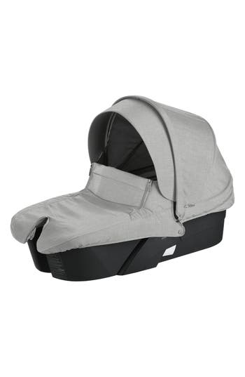 Infant Stokke Xplory Black Frame Stroller Carry Cot Size One Size  Grey