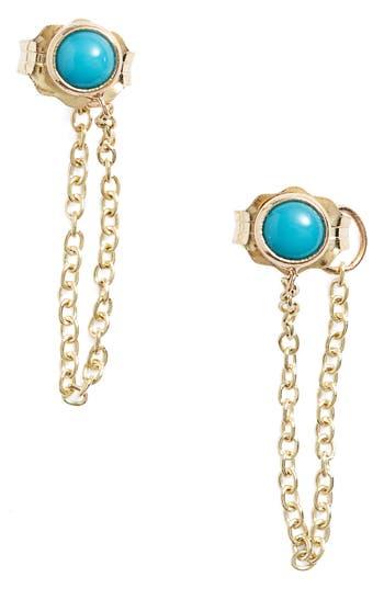 Women's Zoe Chicco Turquoise Chain Earrings