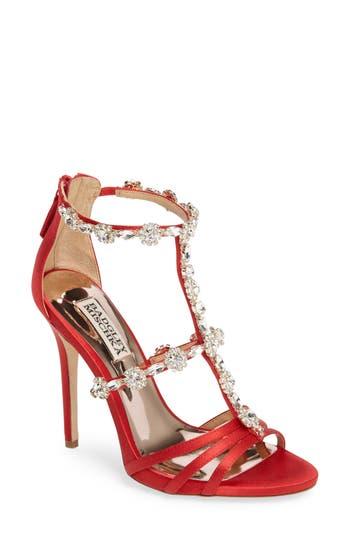 Badgley Mischka Thelma Crystal Sandal, Red