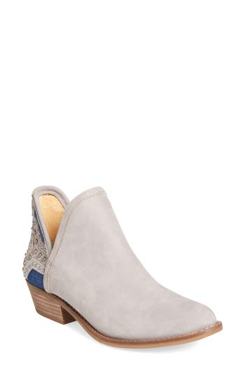 Lucky Brand Kambry Perforated Bootie- Grey