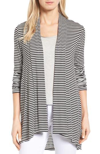 Women's Bobeau High/low Jersey Cardigan, Size X-Large - Black