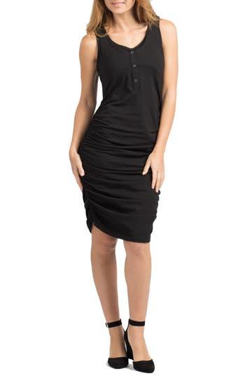 Savi Mom Berkeley Snap Maternity/nursing Midi Dress