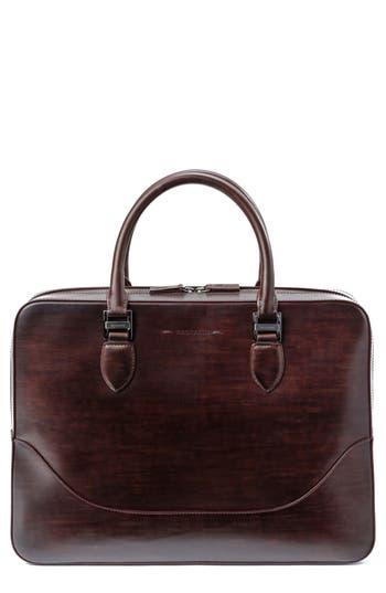 Magnanni Medium Leather Briefcase - Brown