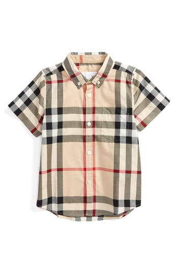 Toddler Boys Burberry Fred Check Shirt Size 3Y  Beige