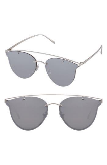 Perverse Mae 55Mm Cat Eye Sunglasses - Silver/ Silver