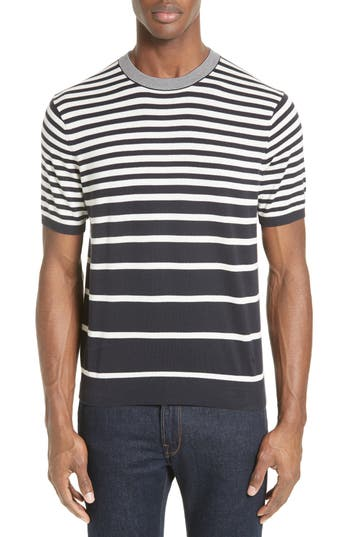 Men's Ps Paul Smith Variegated Stripe Sweater, Size Small - Blue