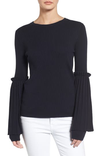 Chelsea28 Bell Sleeve Sweater, Blue