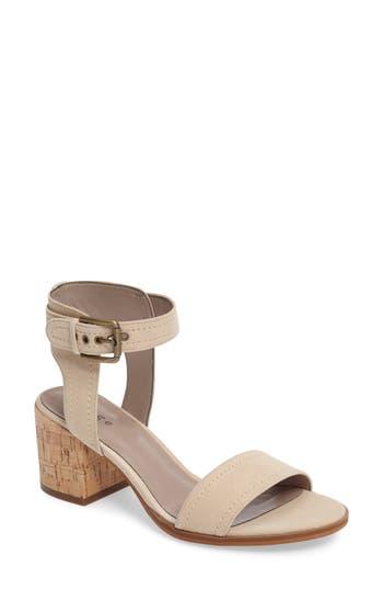 Women's Hinge Dylan Block Heel Sandal, Size 6 M - Beige