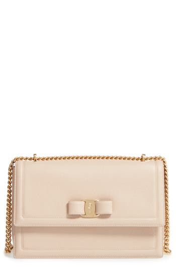 Salvatore Ferragamo Medium Ginny Leather Shoulder Bag -