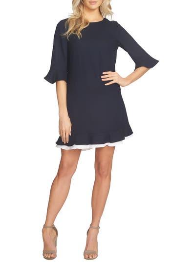 Cece Kate Ruffle Dress, Blue