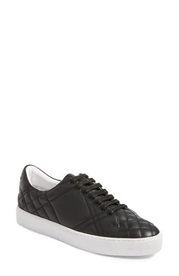 Burberry Check Quilted Leather Sneaker, Black
