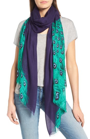 Women's Kate Spade New York Plume Tissue Weight Oblong Scarf