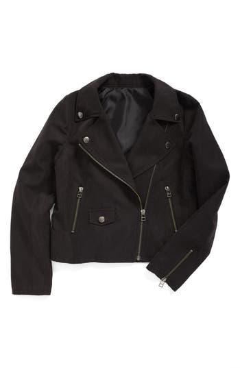 Girl's Treasure & Bond Faux Suede Moto Jacket
