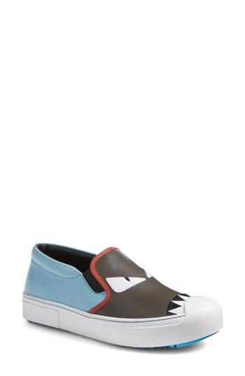 Fendi Monster Sneaker, Grey