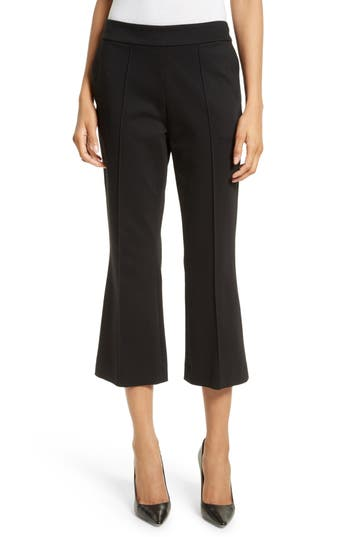 Alice + Olivia Michiko Crop Flare Pants, Black