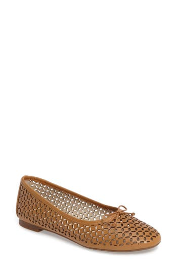Louise Et Cie Congo Perforated Flat, Brown