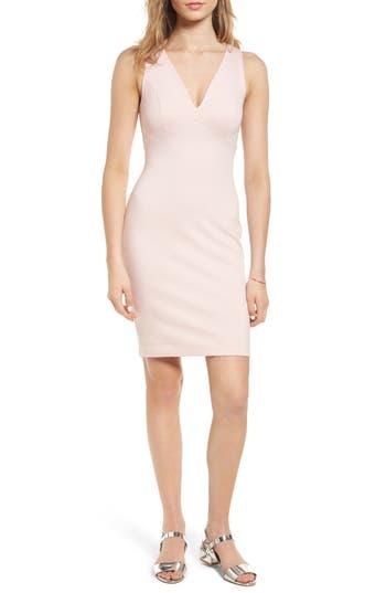 Soprano Cross Back Body-Con Dress, Pink