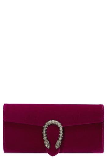 Gucci Dionysus Velvet Clutch - Purple