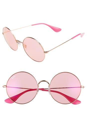 Ray-Ban The Ja-Jo 55Mm Round Sunglasses - Rose