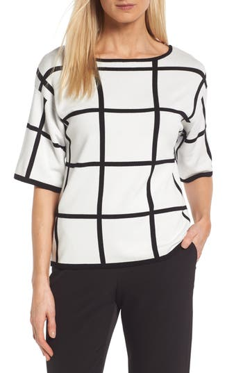 Vince Camuto Windowpane Sweater