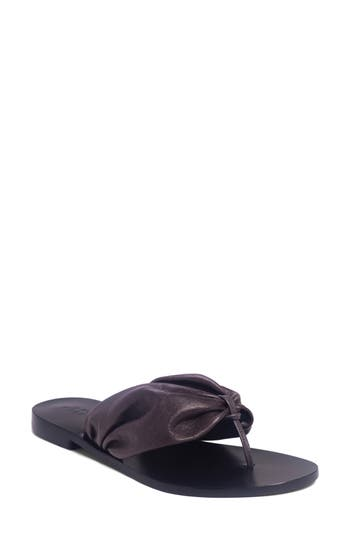 One Bernardo Drape Sandal, Black
