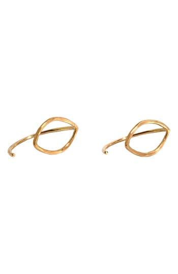 Women's Melissa Joy Manning Small Oval Threader Stud Earrings