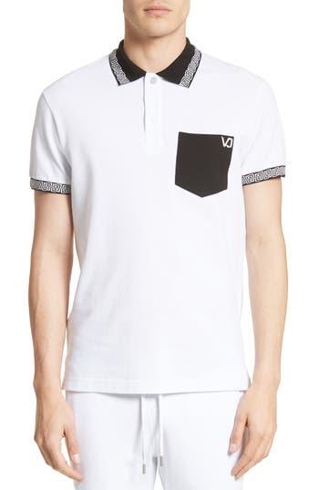Versace Jeans Colorblock Polo, White