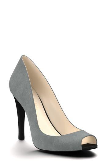 Shoes Of Prey Peep Toe Pump, Grey