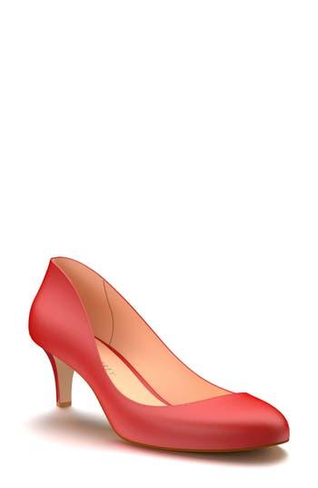 Shoes Of Prey Kitten Heel Pump, Red
