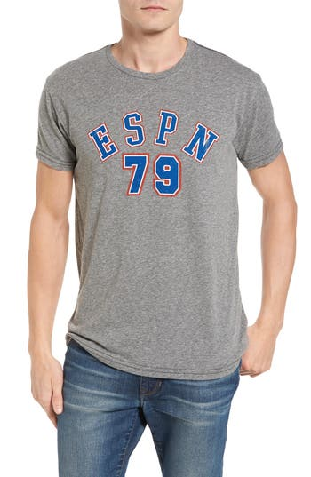 Retro Brand Espn 79 T-Shirt, Grey