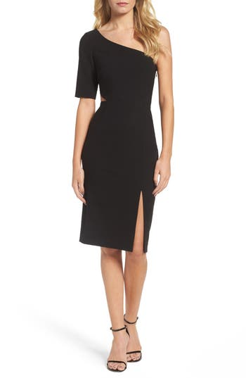 Jill Jill Stuart One-Shoulder Sheath Dress, Black