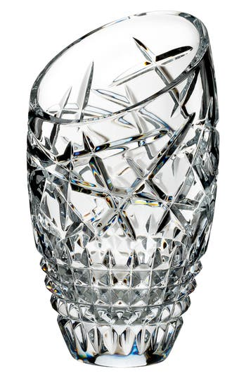 Waterford Fleurology Jeff Leatham Cleo Slant Vase, White