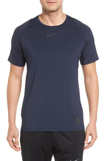 Nike Pro Fitted T-Shirt, Blue
