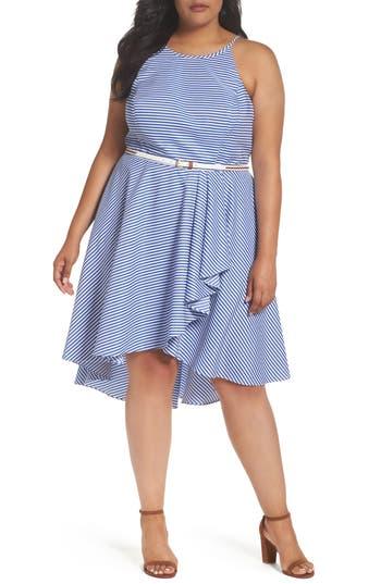 Plus Size Eliza J Stripe High/low Dress