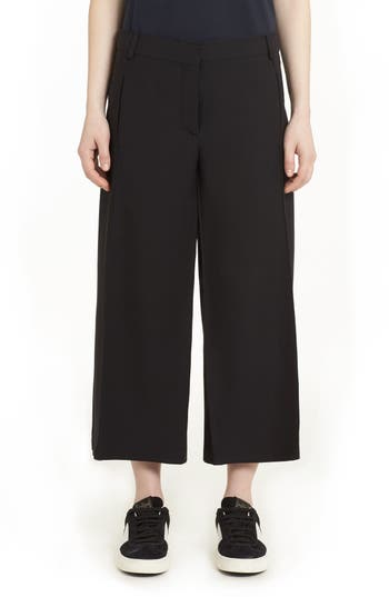Women's Valentino Crepe Couture Wool & Silk Culottes