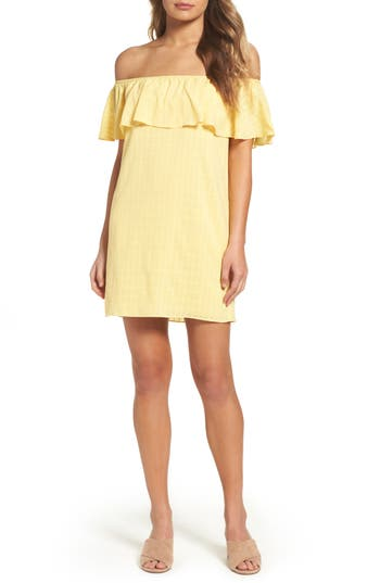 Women's Ali & Jay Bonita Senorita Shift Dress, Size Small - Yellow