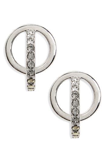 Women's Judith Jack Silver Sparkle Circle Stud Earrings