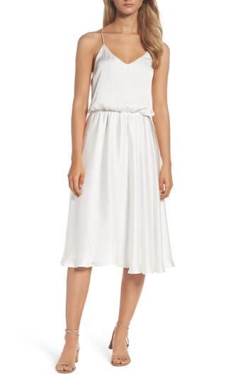Bardot Blouson Dress, White