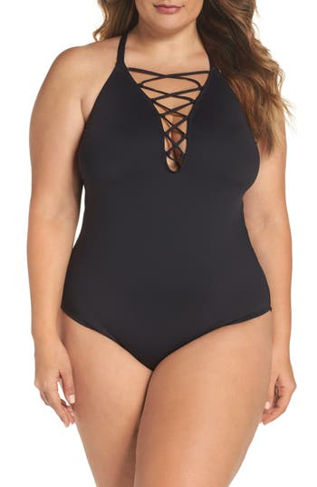 Plus Size La Blanca One-Piece Swimsuit, Black