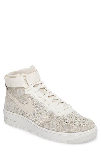 Nike Air Force 1 Ultra Flyknit Mid Sneaker, Grey