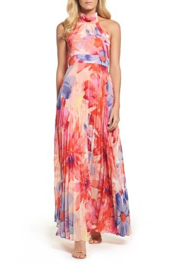 Women's Eliza J Chiffon Maxi Dress, Size 2 - Pink
