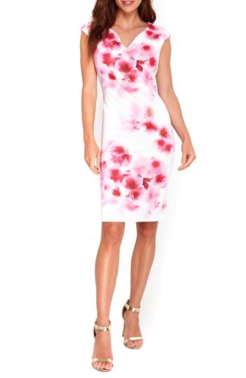 Wallis Floral Scuba Knit Sheath Dress