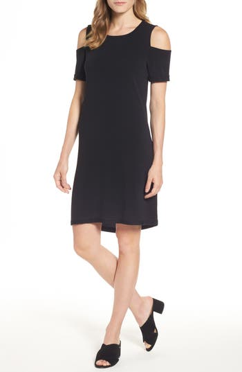 Caslon Cold Shoulder Shift Dress