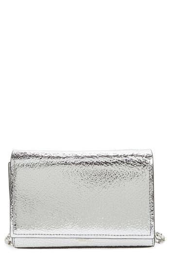Michael Kors Yasmeen Small Metallic Leather Clutch - Metallic