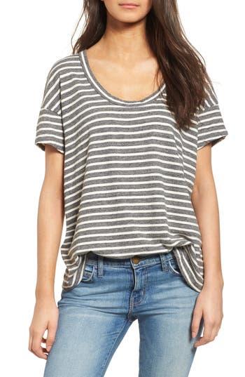 Women's Current/elliott Stripe Slouchy Tee