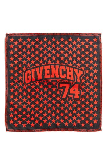 Women's Givenchy 74 Square Silk Scarf, Size One Size - Red