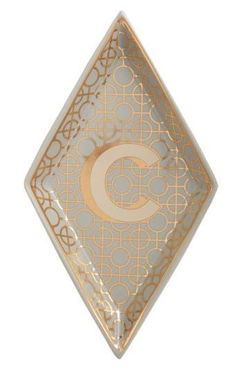 Roseanna Porcelain Alphabet Trinket Tray, Size One Size - Metallic