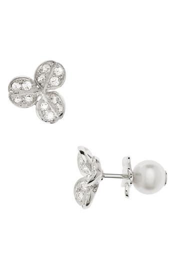 Women's Mikimoto Pearl & Diamond Front/back Earrings
