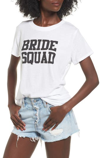 Women's Sub Urban Riot Bride Squad Graphic Tee, Size X-Small - White