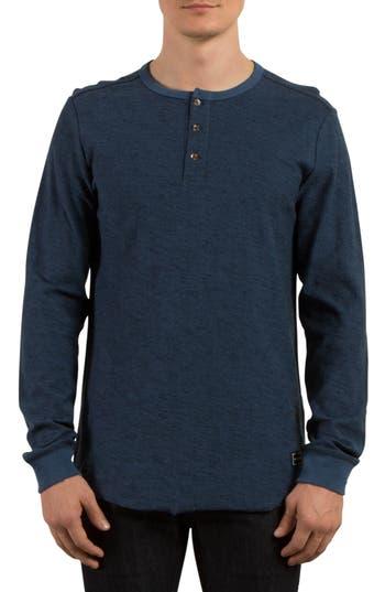 Volcom Moxie Henley T-Shirt, Blue